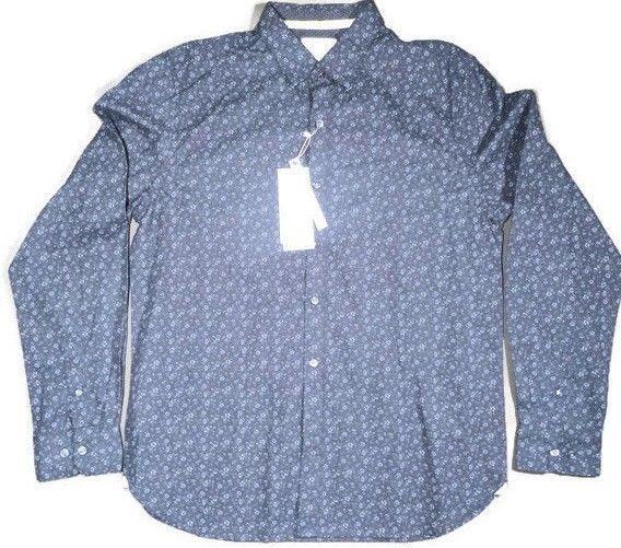 7ef8af0c9a Cactus Man Ricky Singh Slim-Fit Button Front Long Sleeve Floral Flip Cuff  Shirt  DenimFlower  ButtonFront