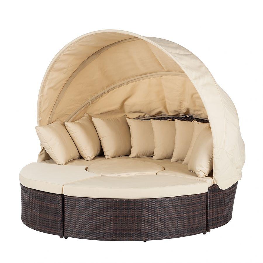 Fesselnd Premium Sonneninsel Paradise Lounge   Polyrattan   Aluminiumrahmen   Braun  / Beige