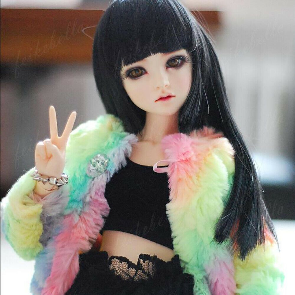 1//4 BJD Doll SD Doll Girls Resin Bare Unpainted Doll Face Makeup Free Eyes