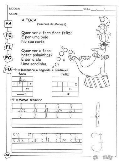 Resultado De Imagem Para Atividade De Educacao Infantil Portugues
