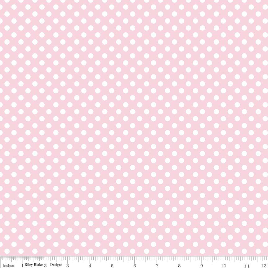 Small Dot Baby Pink For Riley Blake Polka Dot Fabric Riley Blake Designs Pink Dots