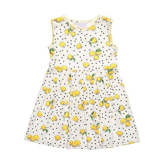 2147faa2e Rachel Riley Ivory Lemon Print Cotton Dress  StylishLittleMoppets ...