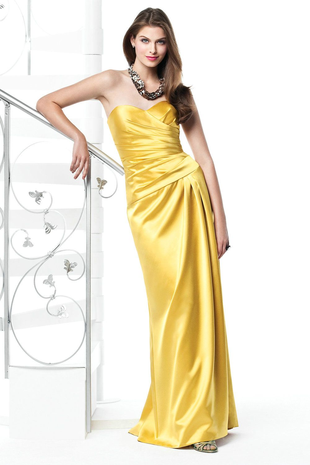 Yellow and grey evening dress occasion dresses bridesmaid dresses