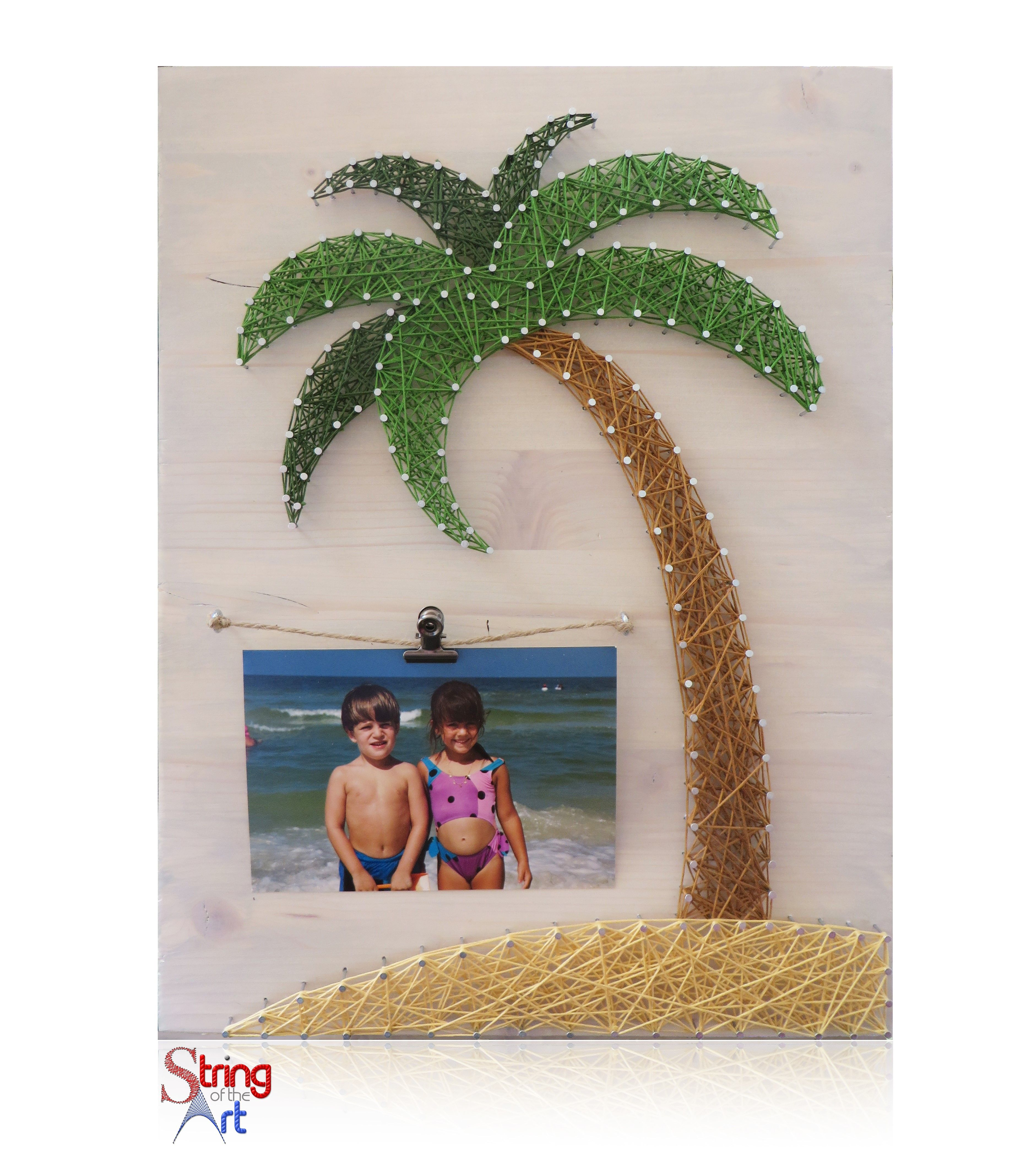 Diy string art kit picture frame string art picture frame palm diy string art kit picture frame string art picture frame palm tree beach beach picture frame diy diy kit crafts w all supplies solutioingenieria Image collections