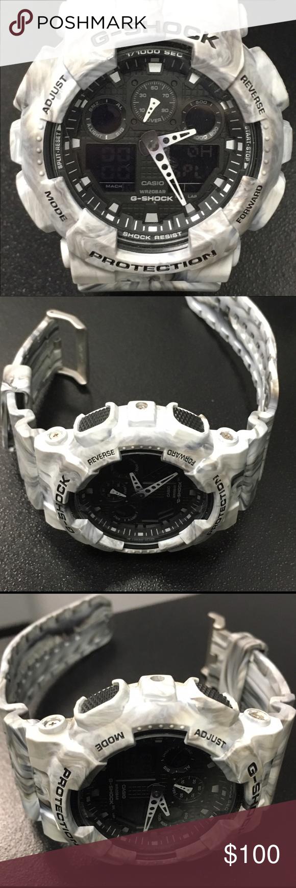 Gshock marble white watch pinterest