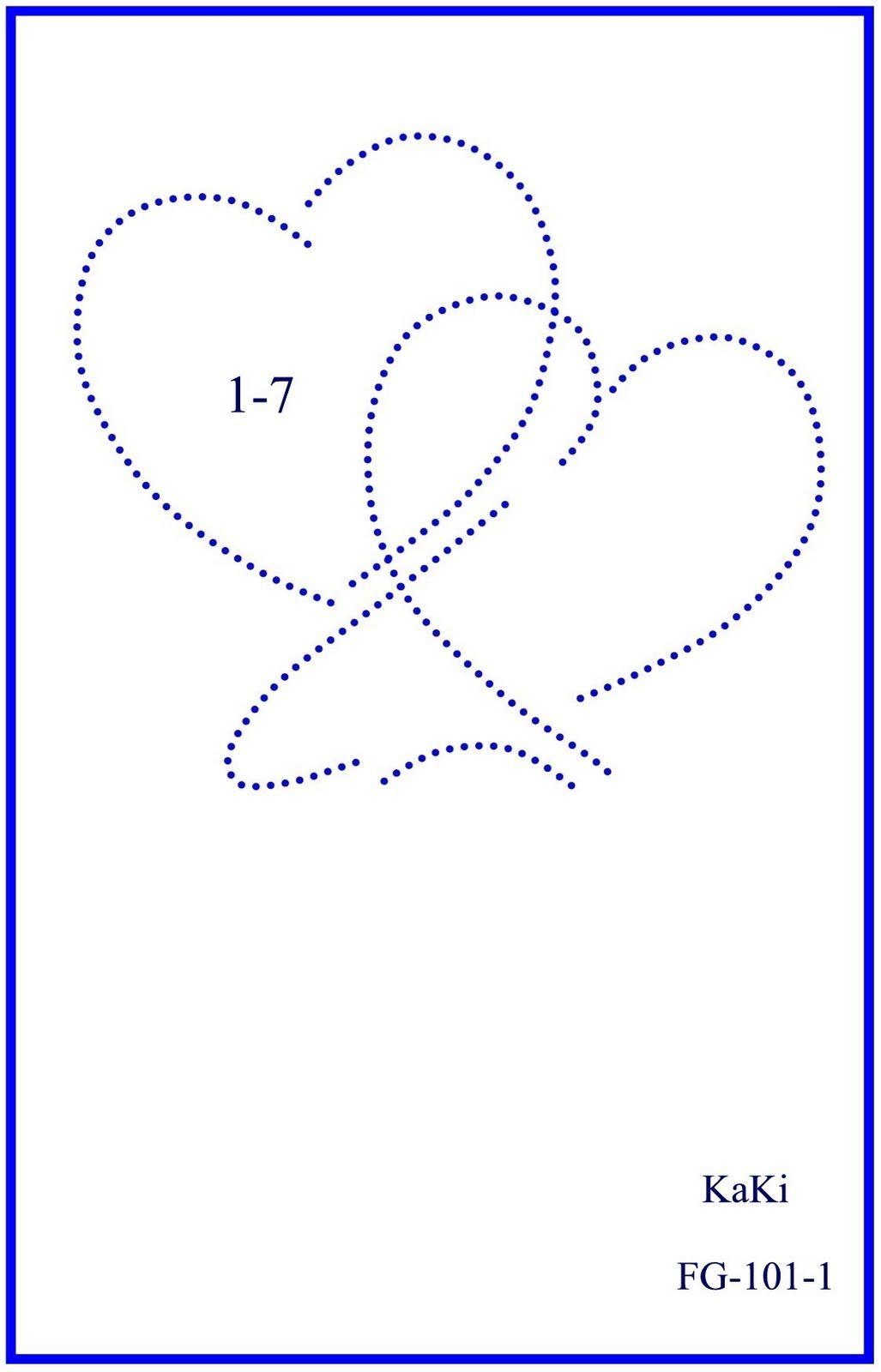 Herzen Fadengrafik Fadengrafik Vorlagen Papierstickerei