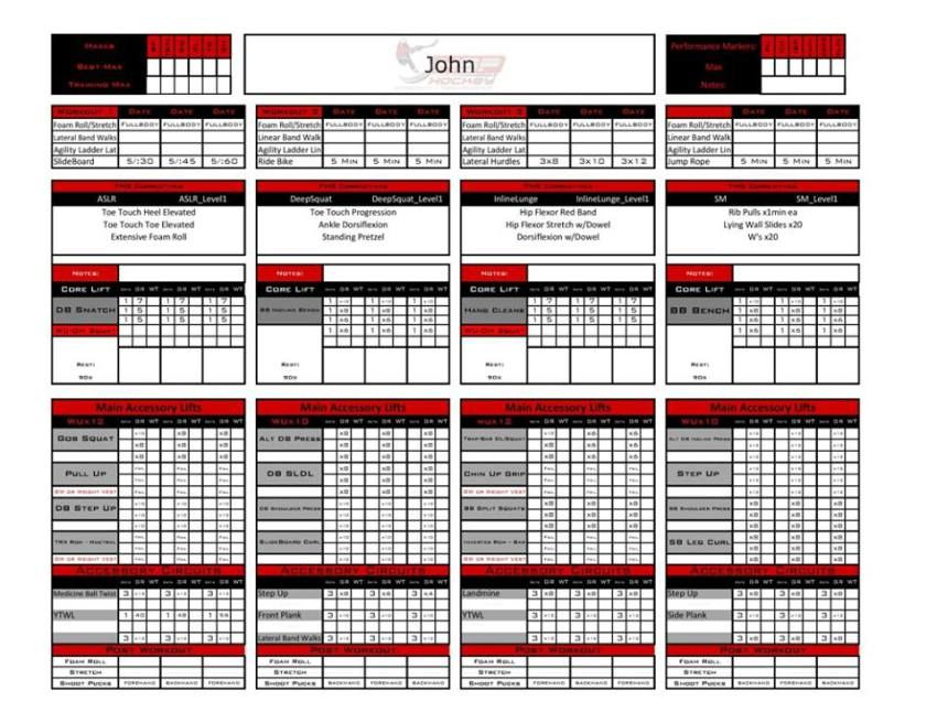template example Workout plan template, Personal fitness