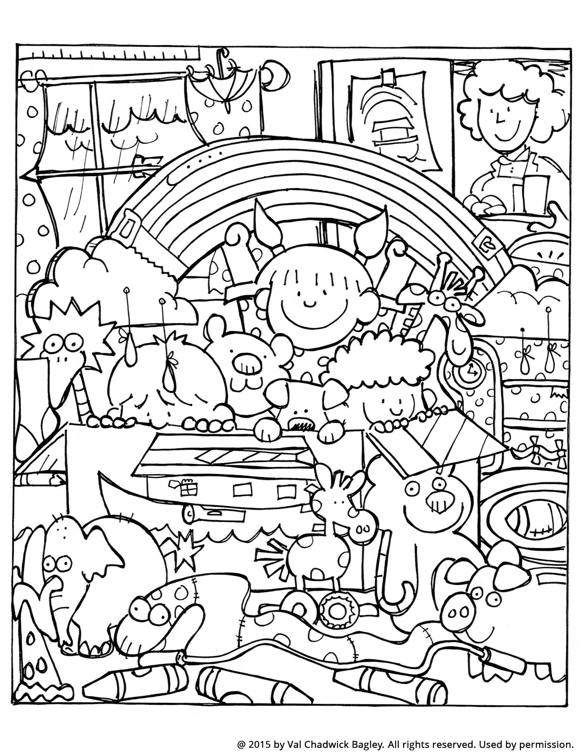 Noah Ark Coloring Page Noah and the Ark Coloring Page in ...