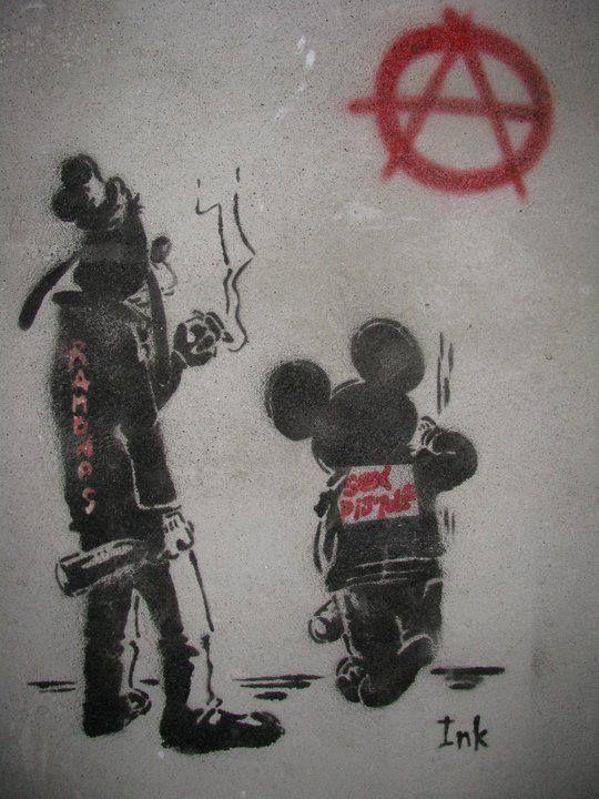 Disney Graffiti Art By Ink Dessin Mickey Street Art Peinture Acrilique
