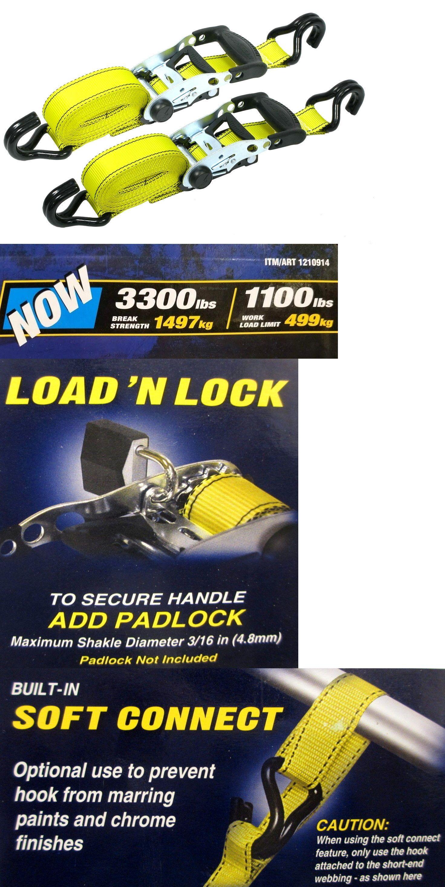 "4 pc 1/""x15/' Adjustable Quick Release Camouflage Truck ATV Ratchet Tie Down"
