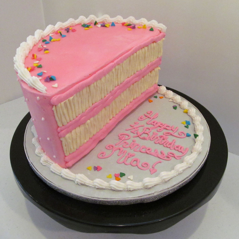 Half Birthday Cake Www Milkandhoneycakery Com With Images