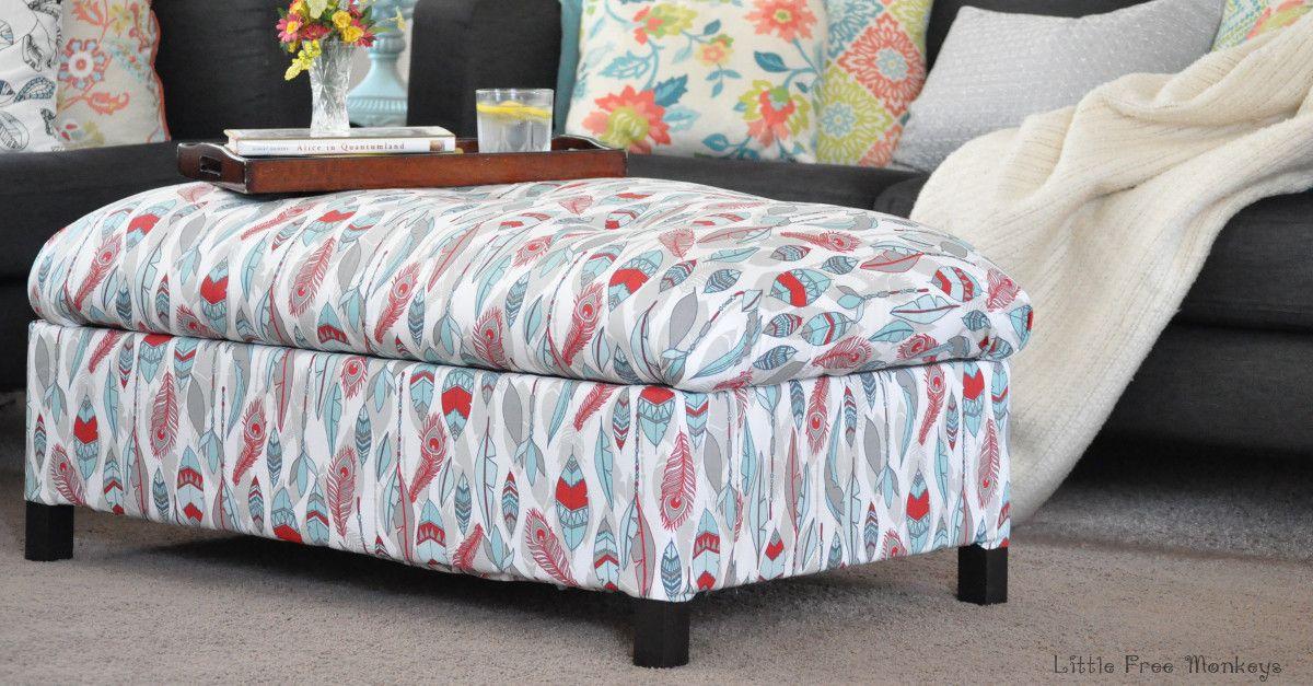 DIY Upholstered Storage Ottoman   Ottomans, Storage and Tutorials
