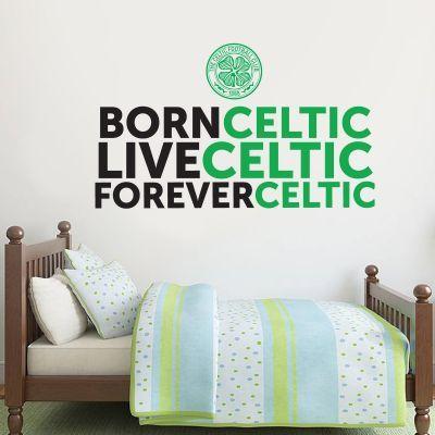 Celtic Football Club Born Live Forver Wall Sticker Decal Vinyl wall ...
