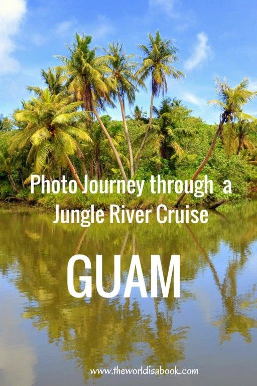 See photos and interesting sights along a Jungle River Cruise in the island of Guam - The World Is A Book