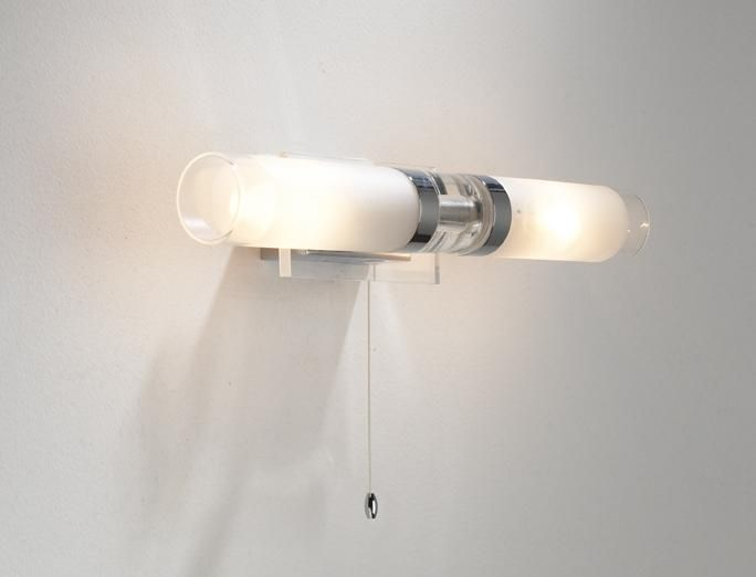 Modern Led Bathroom Ceiling Light Chrome Finish Ip44 Rated: The Reflex Bathroom Double IP44 Rated Wall Light Has A