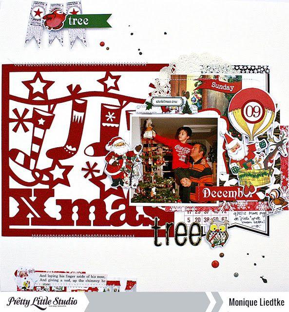 creating {non}sense: Christmas Tree - Pretty Little Studio by Monique Liedtke #prettylittlestudio