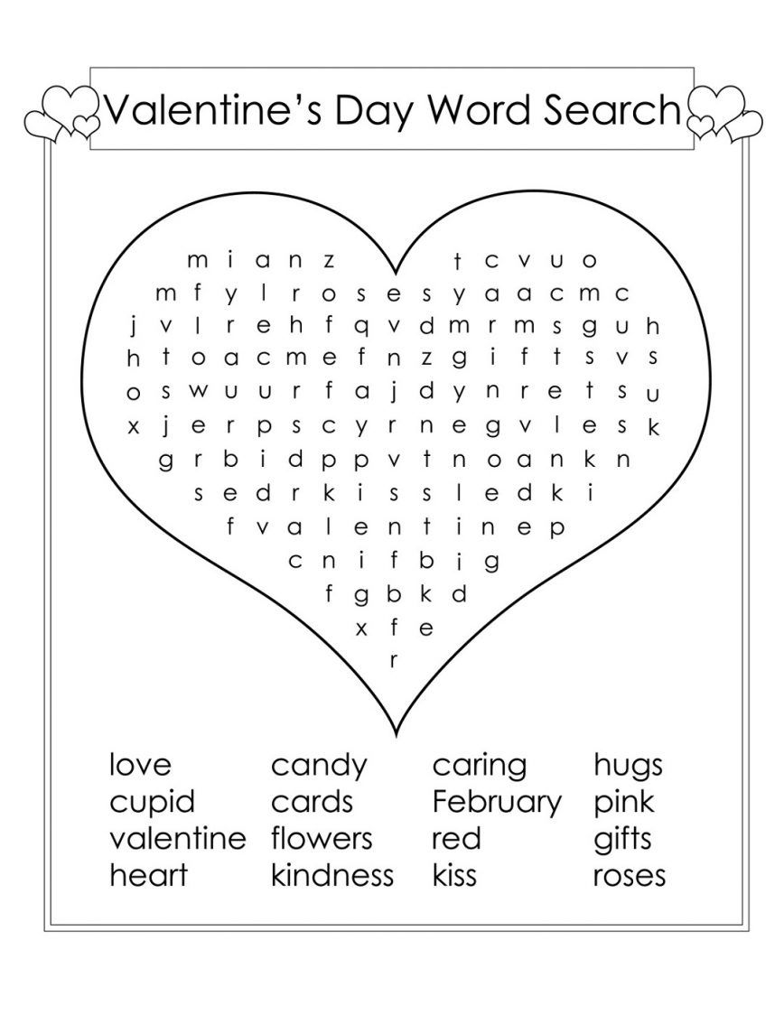 photo about 2nd Grade Word Search Printable referred to as 2nd Quality Phrase Seem Baffled Valentines working day phrases