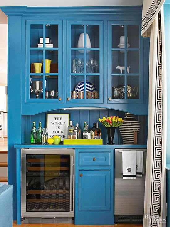 Home Bar Ideas | Kitchen colour combination, Bold colors and ...