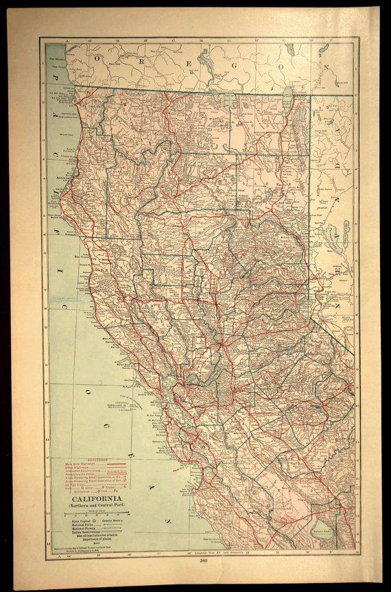 Northern California Map Large California Road Map Highway Map Wall