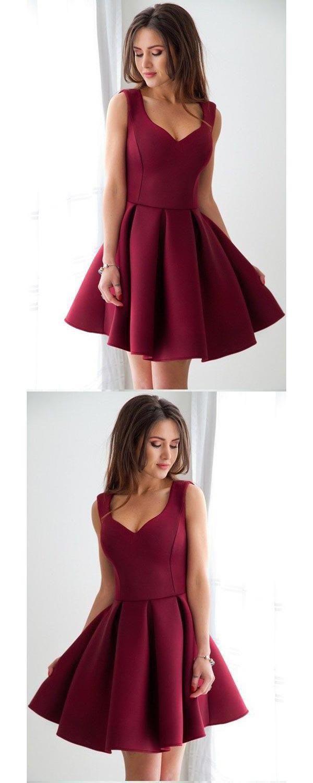 Burgundy Short OKDR Homecoming Dresses