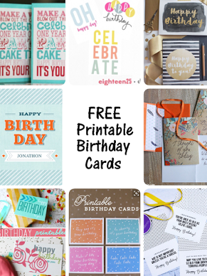 Free Printable Birthday Cards The Ultimate Pinterest Party