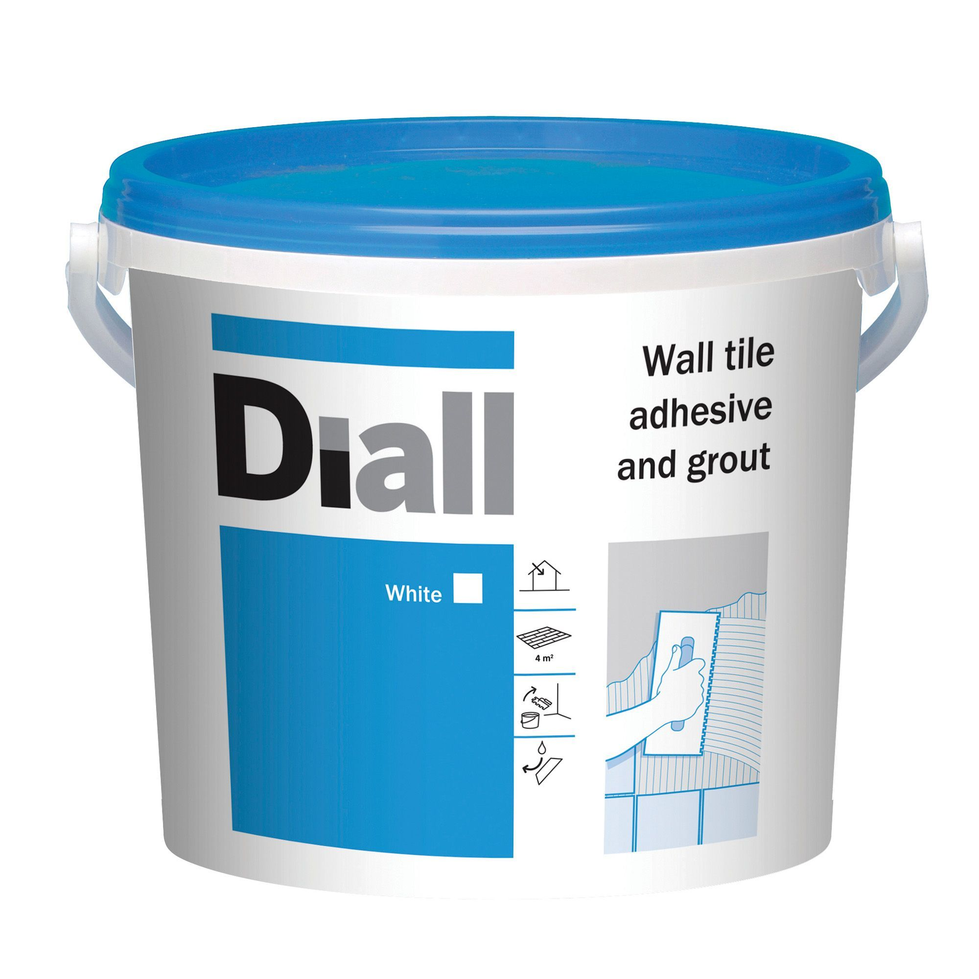 Diall ready to use wall tile adhesive grout white 66kg
