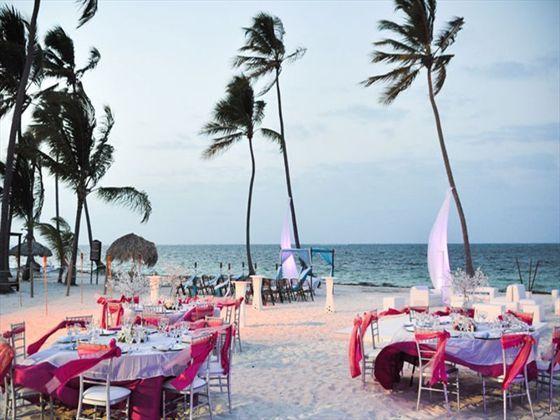 Beachfront Wedding Reception At Dreams Palm Beach
