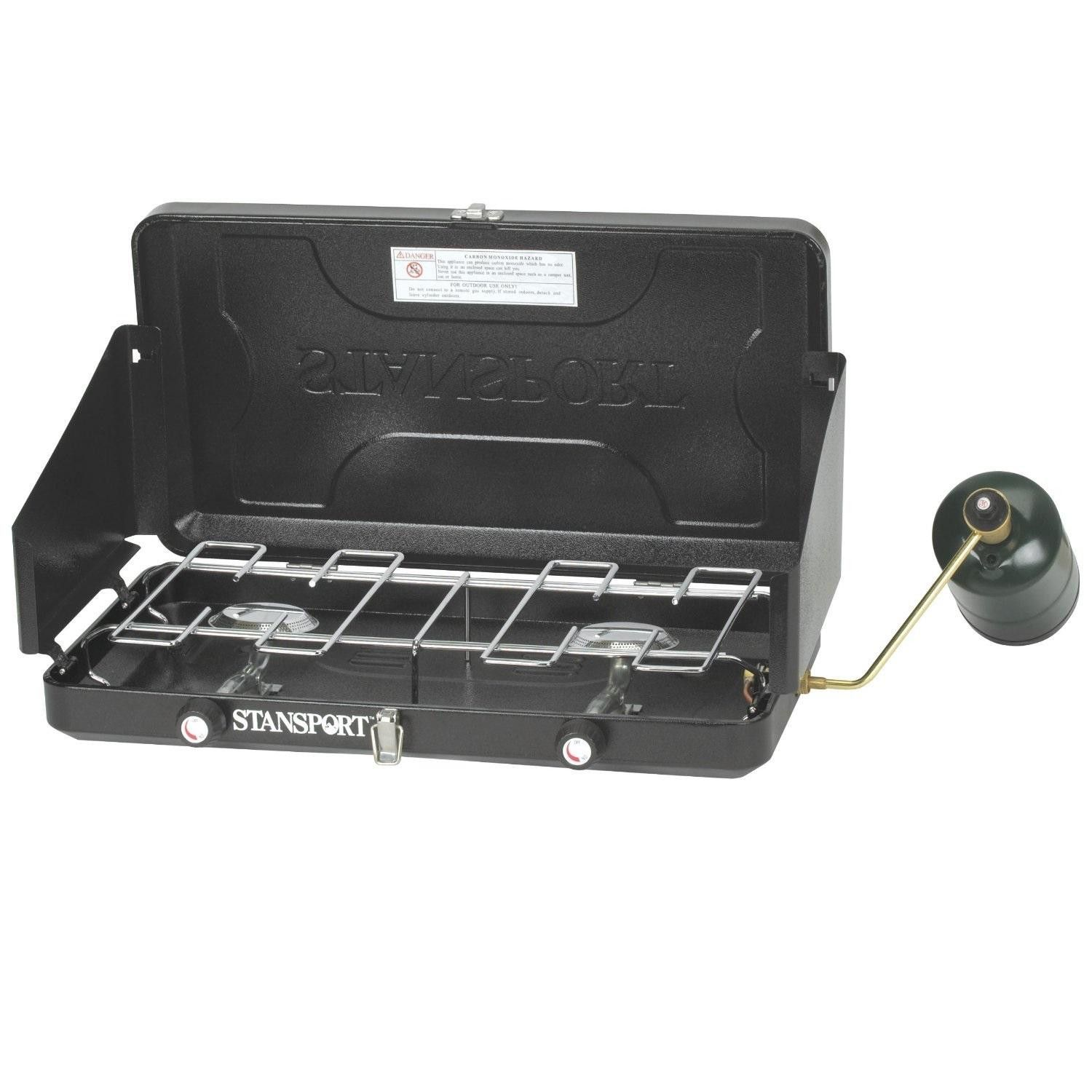 Stansport twoburner regulated propane stove propane smoker
