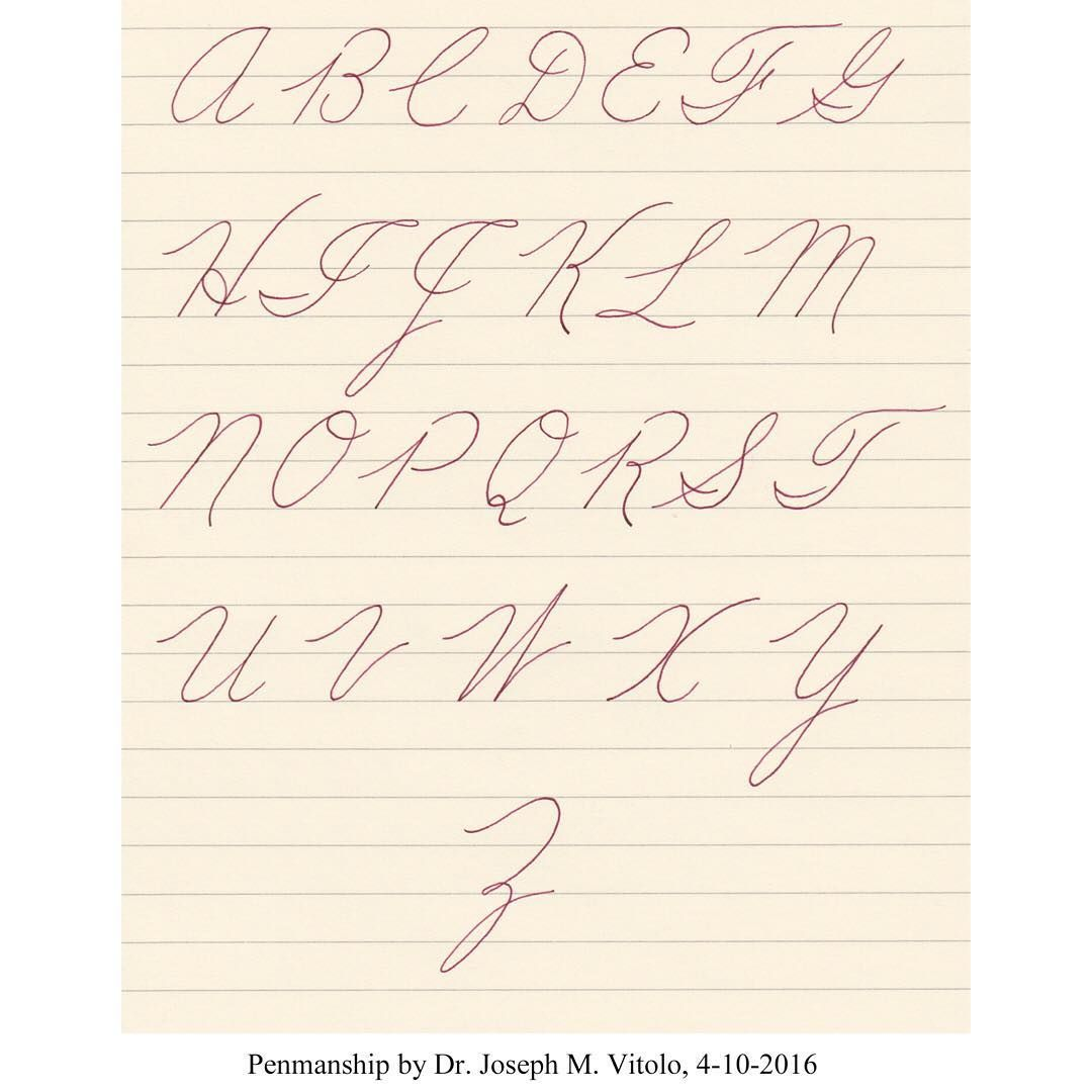 Calligraphy Iampeth Cursive Copperplate Penandink