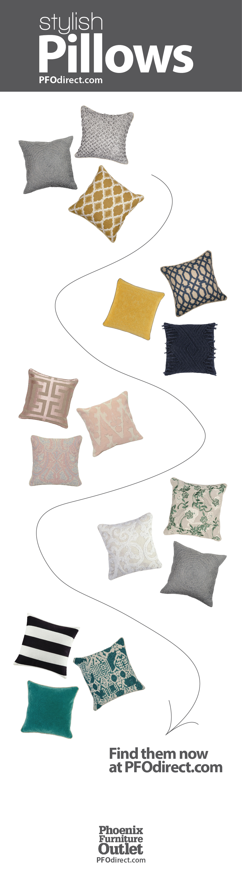 Check Out These Stylish Pillow Sets From Phoenix Furniture Outlet Name  Brands At Outlet Prices!