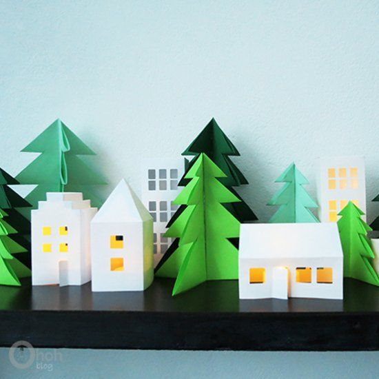 Make some nice paper Christmas tree as winter decor For the Home