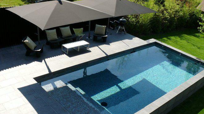 Piscines  les nouvelles tendances Swimming pools, Outdoor spaces - photo terrasse carrelage gris