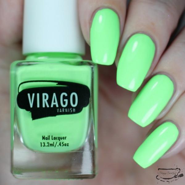 Coronado ---Green pastel, green bleached, neon, matte nail polish ...