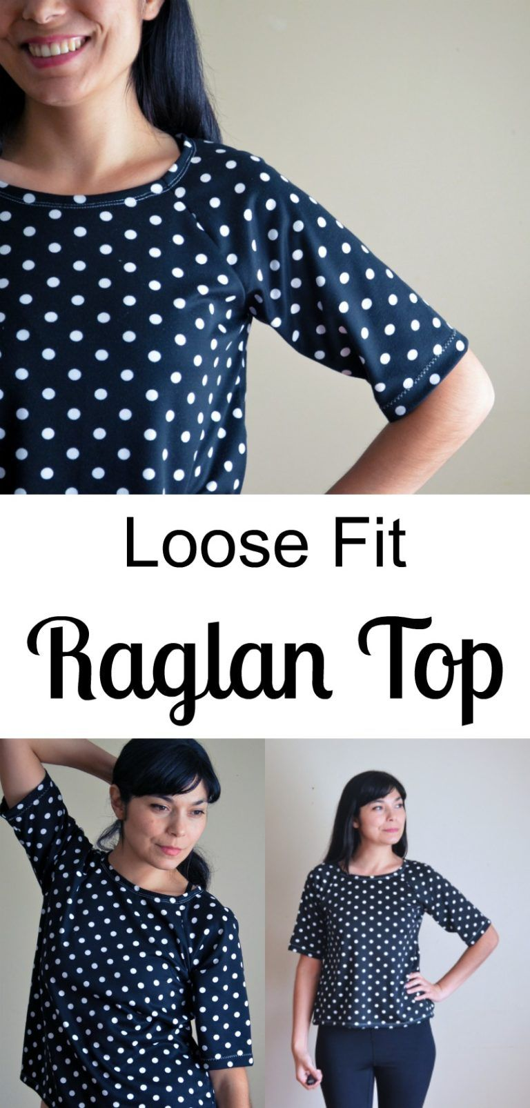 8747498a9c3 Simple Loose fit Raglan Top Sewing Tutorial with a free size 4 pattern to  download!