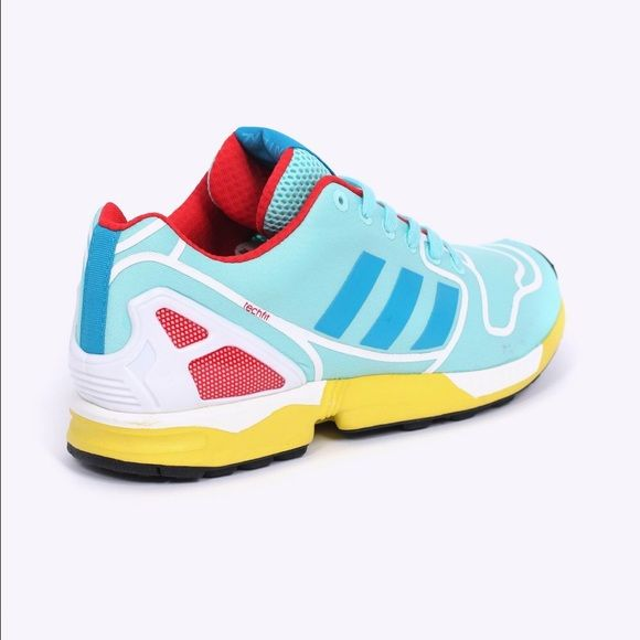 40c56c086b61 Adidas ZXFlux Torsion    Athletic Shoes ONLY BEEN WORN ONCE. Chic and  comfortable athletic shoes. Vibrant colors make your work out POP! Adidas  Shoes ...