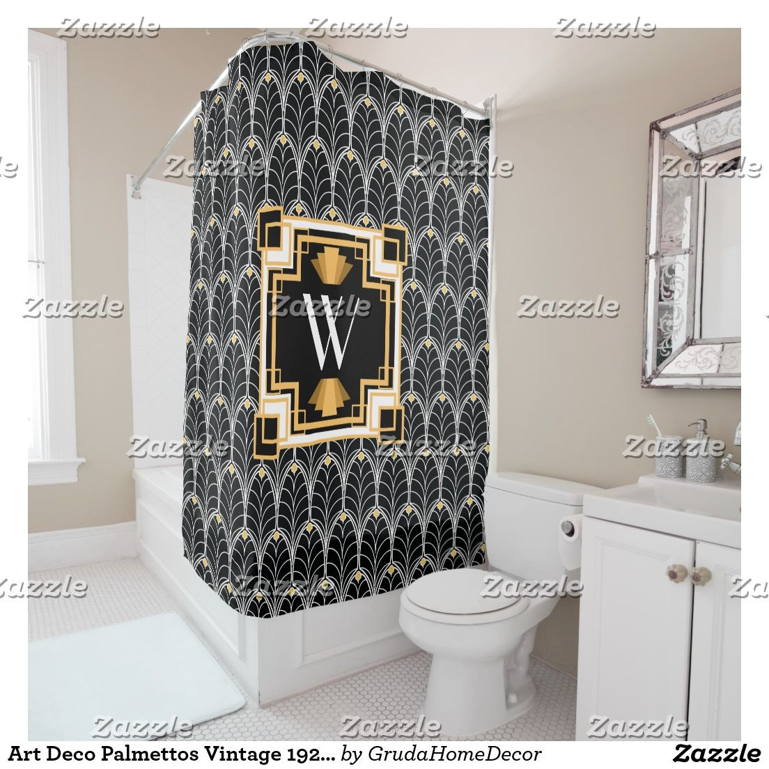 Create Your Own Shower Curtain Zazzle Com Modern Shower