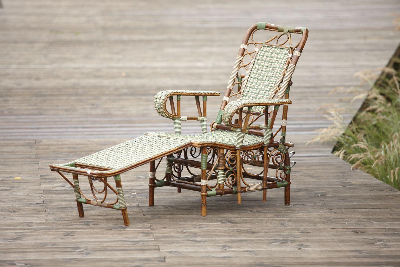 Chaise Longue En Rotin Manufacture Perret Vibert C1889 1890 Galerie
