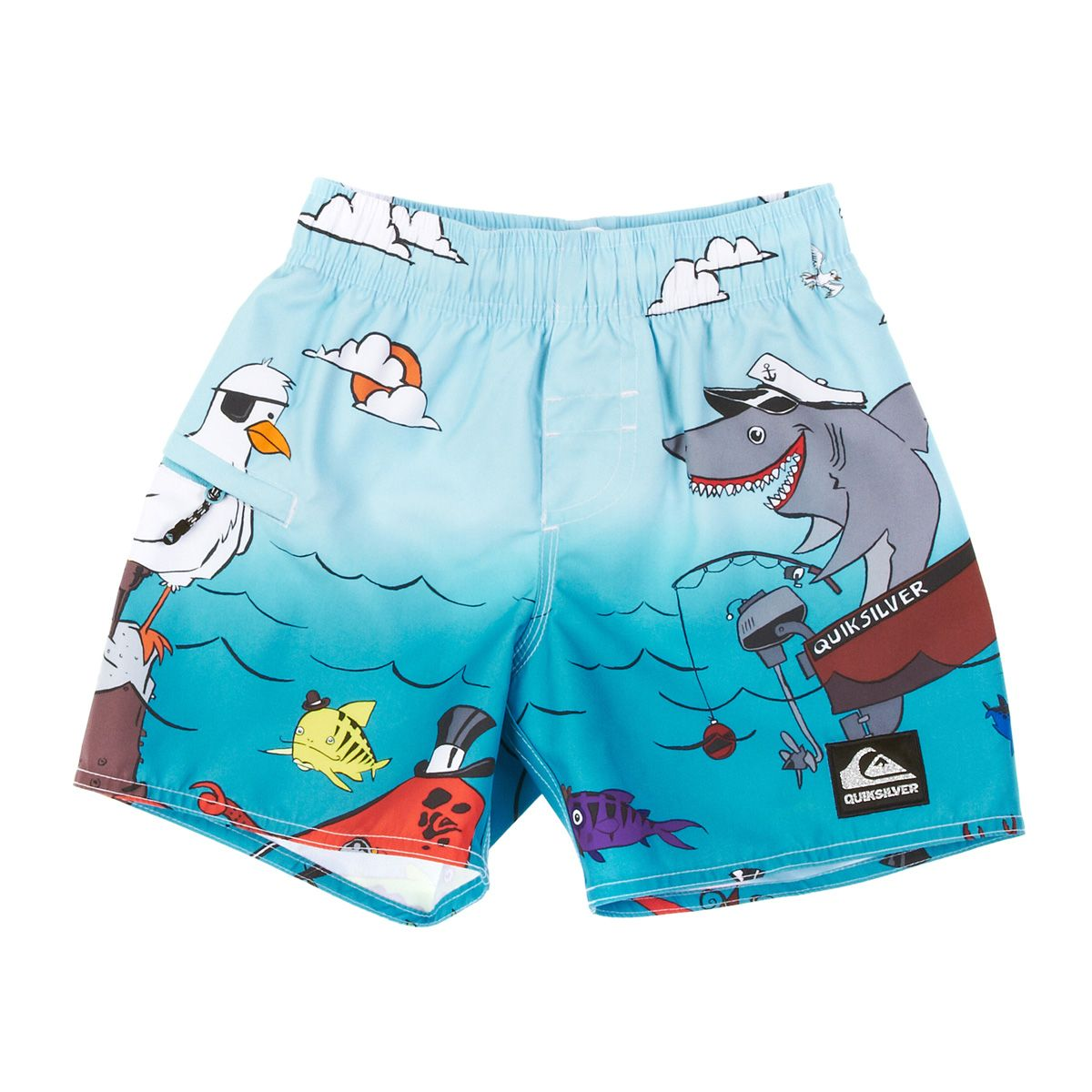 4632792691 Quiksilver Fish Stix Boy Ja Board Shorts - Pacific   Free Delivery ...