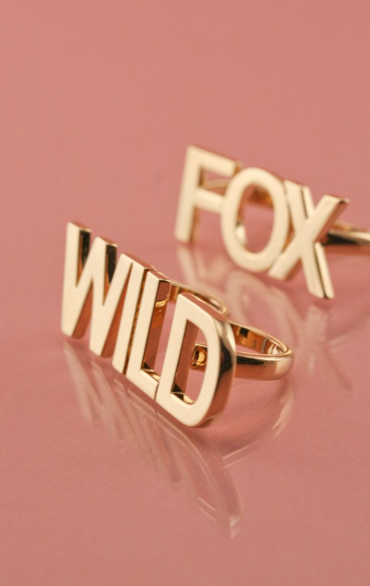 10k Gold 2 Finger Ring Set Wild Fox 3 Couture Shoes Bottega Louie Jewelry Bags