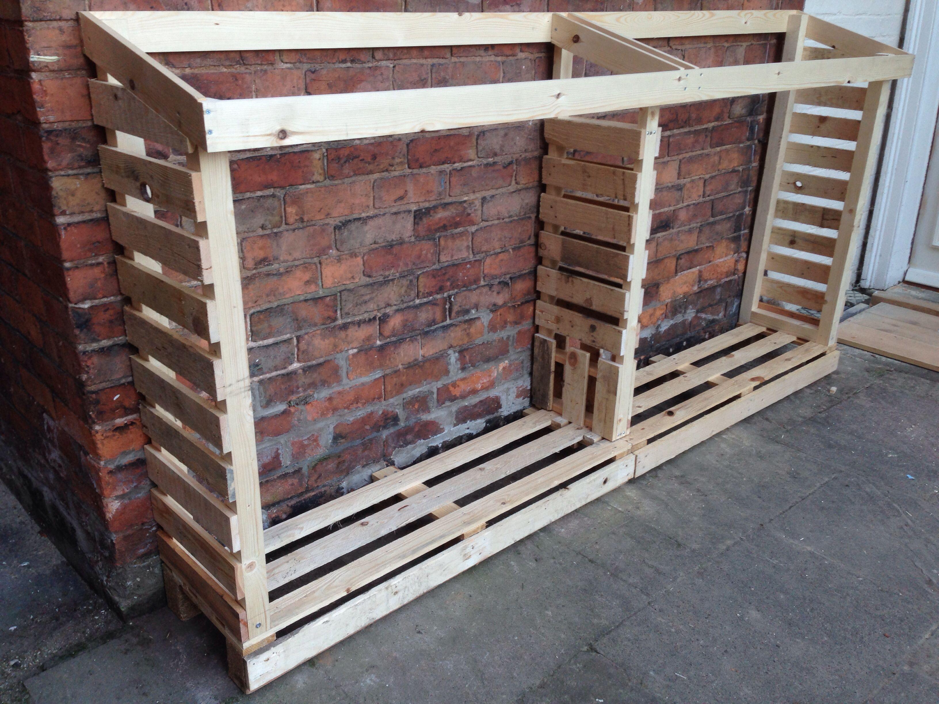Marvelous Pallet Log Store Mehr. Firewood RackFirewood StorageStacking FirewoodWood  ...