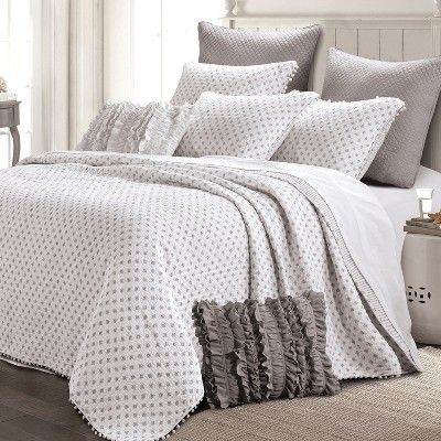 Risa Quilt Set Gray - The Industrial Shop | Home Both ...