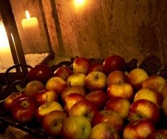Julbord äpplen