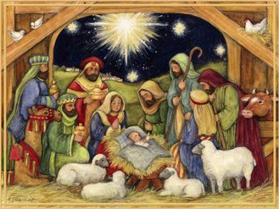 Nativity, Adore Him Christmas Cards, Box of 18 | Christmas ...