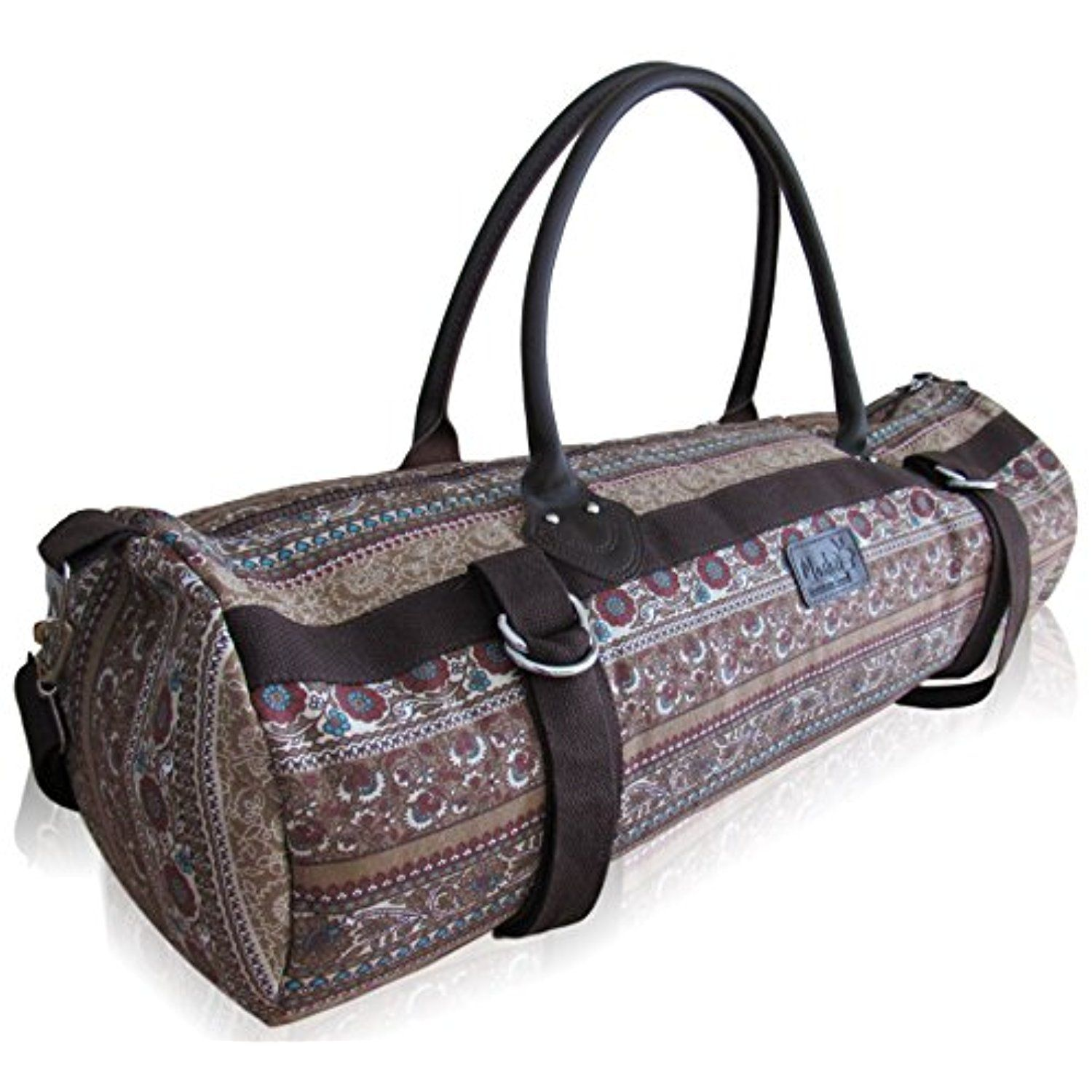 68ca9ba03a LEATHER handles and accents make this Yoga Mat Carrier Bag functional and  desirable