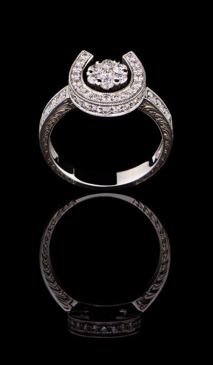 western style wedding rings Diamond Horse Shoe Ring DR Scotty gonna get this for me