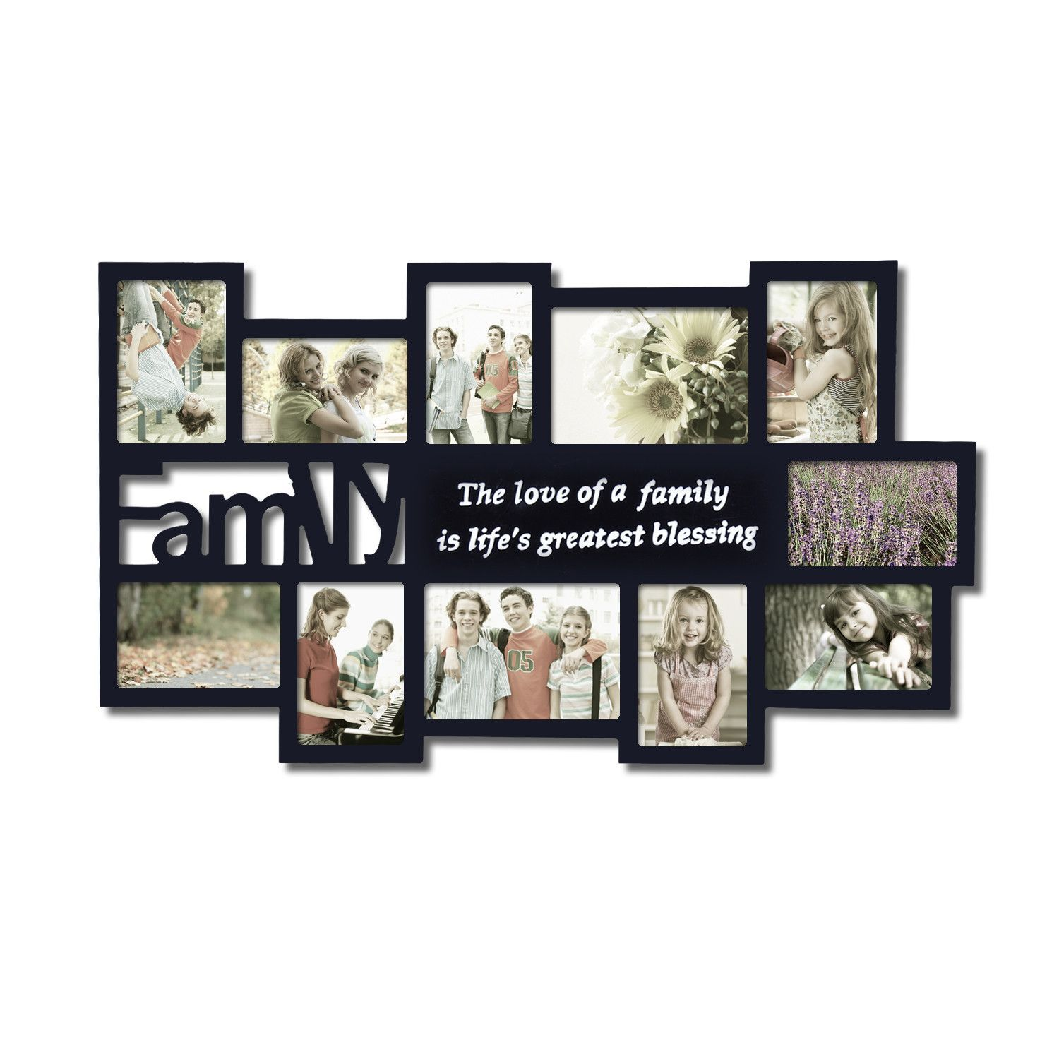 11 Opening Wooden Photo Collage Wall Hanging Picture Frame | FOTOS ...