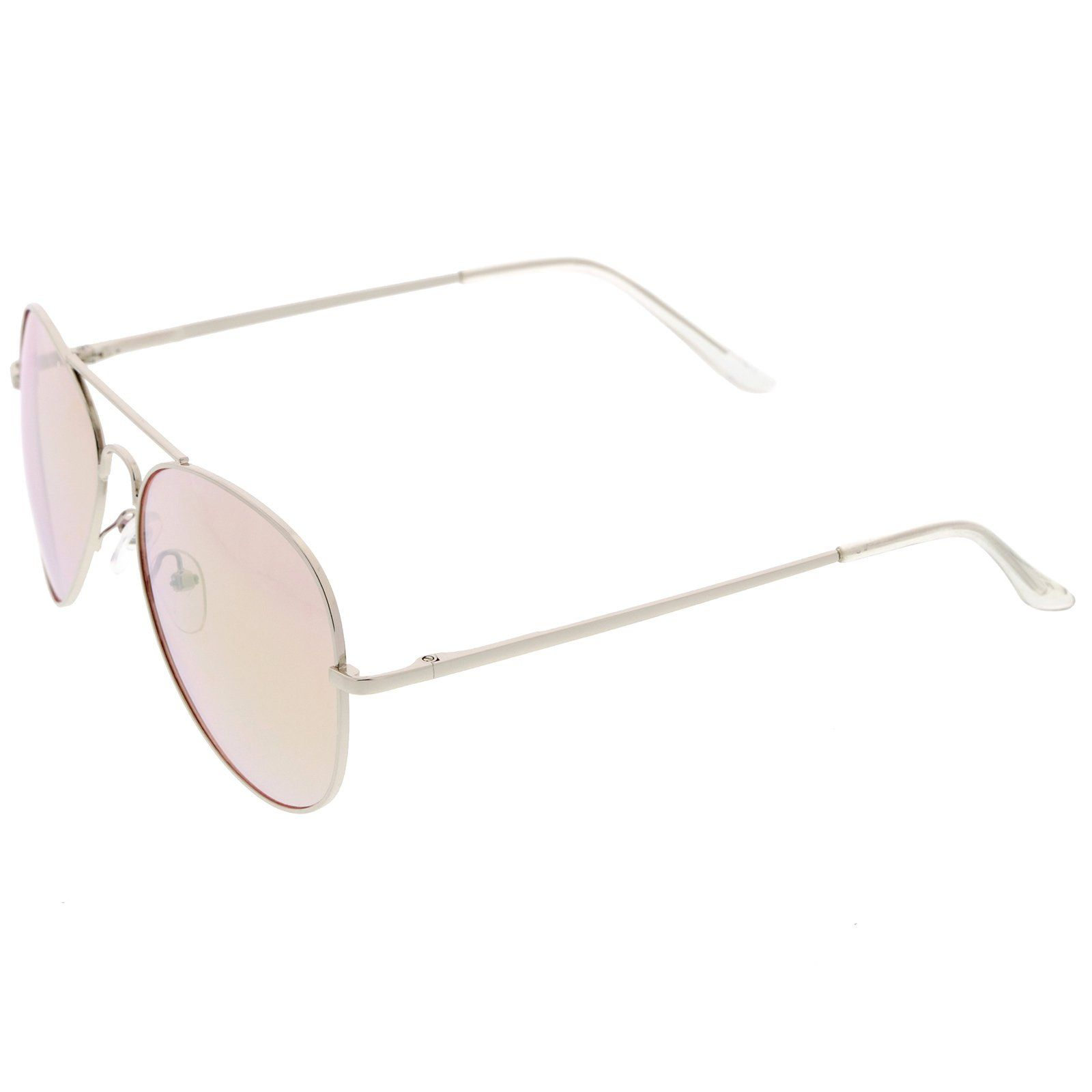 e73c0c3465 Classic Metal Frame Spring Hinges Color Mirror Lens Aviator Sunglasses 56mm  Silver Pink Mirror     You can find more details by visiting the image link.
