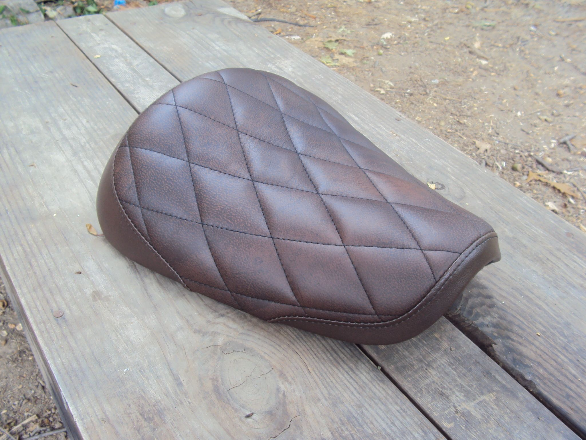 How To Recover A Motorcycle Seat Using Stretch Vinyl Fabric - Stretch vinyl for motorcycle seat