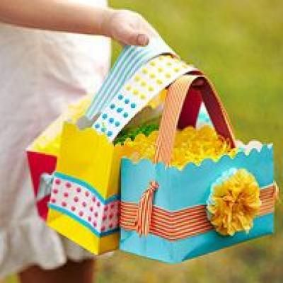 Easter egg hunts easter baskets easter and bag great idea for easter baskets using recycled gift bags love the candy dot strips for handle etc negle Choice Image