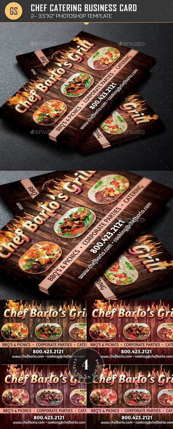 Chef Catering Business Card Template | Catering business, Card ...